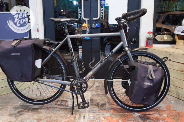 Co-Motion Pangea kitted out with Ortlieb panniers.