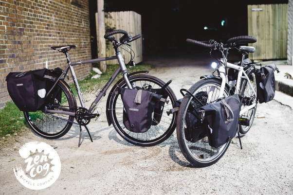 Co-Motion Cycles Pangea Rohloff Co-Pilot Custom Builds with Ortlieb pannier bike bags