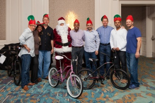 Mercedes-Benz sales team members built bicycles for needy youth in Jacksonville, Florida.